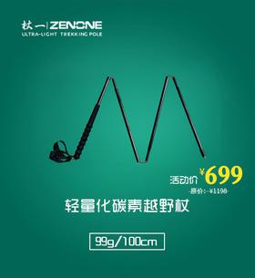 杖一经典超轻碳素越野杖 Z1801(1对)