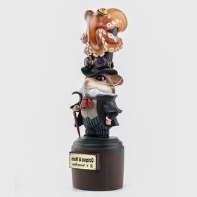 镰田光司《Octopus Hum》章鱼仓鼠实色版  雕塑