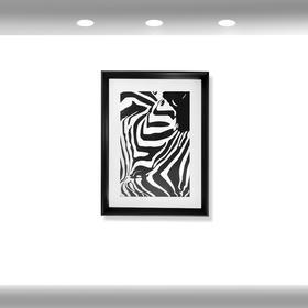 希岸酒店2.0客房卫生间挂画  (斑马)