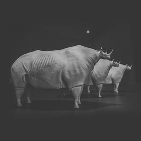 柳迪《犀牛》艺术雕塑