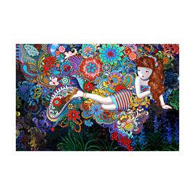 孙立莎 《梦系列3》艺术丝巾