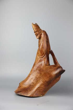 花梨木《济公》木雕摆件