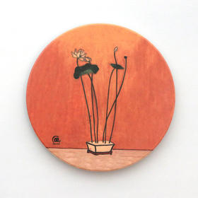 常玉艺术吸水杯垫系列