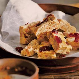 [蔓越莓牛轧雪酥]香酥可口 奶香浓郁 125g/盒 两盒装