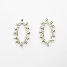 O Season 收藏回憶。新葉(Memory)/銀珠耳環