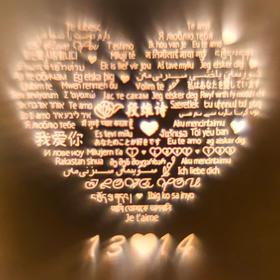 【专属定制】爱的记忆一百种语言我爱你投影925银吊坠