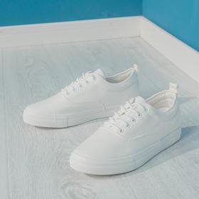轻质简约帆布小白鞋
