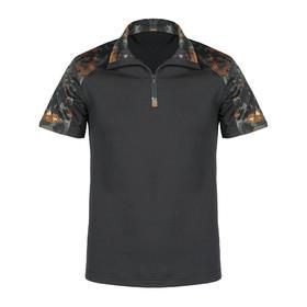 【德斑丛林迷彩】立领短袖战术衫