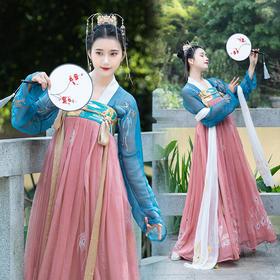 儒家汉服女齐胸中国风襦裙春夏重工刺绣超仙对襟