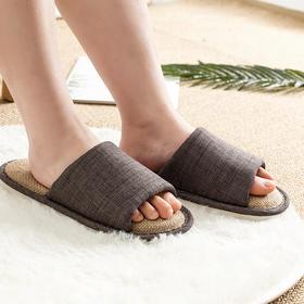 云游乳胶亚麻拖鞋 抗菌防螨 嘭弹柔软 预防脚气 轻便耐用  pvc防滑鞋底
