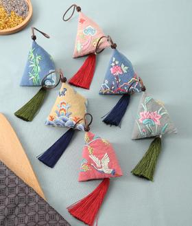 端午艾草粽子香囊 刺绣DIY材料包 0基础可制作