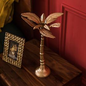 奇居良品 DF烛台摆件轻奢金色家用烛光晚餐婚庆节庆餐桌装饰品