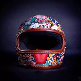 刘向《American Dream》《机械纪元》手绘头盔