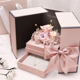 【520浪漫礼物】克拉恋人925银项链+永生花礼盒