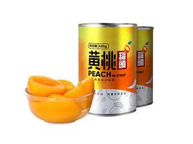 中国农谷欧力可黄桃罐头425g*2新鲜对半果肉罐头