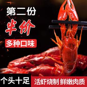 湖北特产洪湖农家4-6钱麻辣味小龙虾网红小龙虾800g净虾500g 顺丰包邮