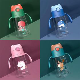 韩国杯具熊儿童水杯吸管杯宝宝幼儿园防摔小学生婴儿夏季学饮水壶