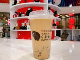 3.99元限量抢正宗网红Kuma Store熊本奶茶 部长の黑砖奶茶一杯