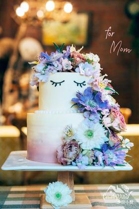 母亲节花艺蛋糕