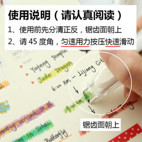 文创/日本文具Plus普乐士荧光蜡笔手账笔记修饰带