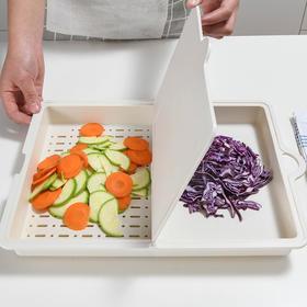 【抗霉  180°翻折创意三合一菜板】家用多功能切菜板 厨房砧板翻盖沥水