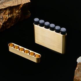 黄铜墨囊盒 | 小巧精致,便携墨胆收纳盒,可装43mm欧标墨囊6支