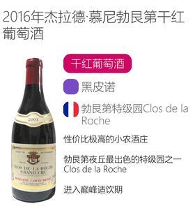 2001年路易雷米庄园罗榭特级园干红葡萄酒 Domaine Louis Remy Clos de la Roche Grand Cru 2001