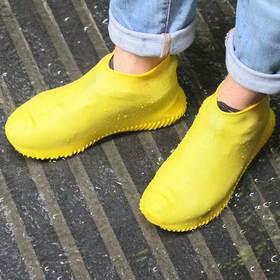 【雨天必备】再也不担心湿鞋啦,时尚硅胶防水鞋套,防滑耐磨便于携带,防水救急神器