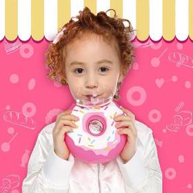 """一个""""甜甜圈""""让娃爱上喝水?凡米粒 FamliyOut 甜甜圈、雪糕水壶!萌到灵魂深处,安全环保!可爱有趣造型,尼龙背带设计"""