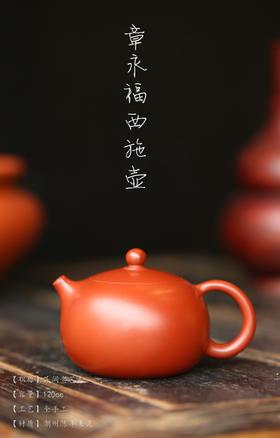 章永福【西施壶】潮州手拉壶原矿朱泥茶壶