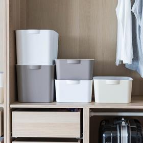 摩登主妇日式有盖大号收纳盒家用塑料衣服收纳箱内衣整理储物箱子