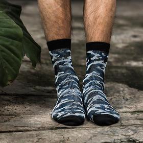 迷彩中筒球鞋袜 精梳棉长绒纱线 进口袜机织造 内外平整无接驳线头(2双)