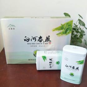2019年新茶陕西特产白河春燕特级绿茶五峰生态茶叶银色礼盒