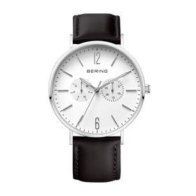 Bering 白令 男士手表商务休闲日期星期指针大表盘皮带石英男腕表 14240-404