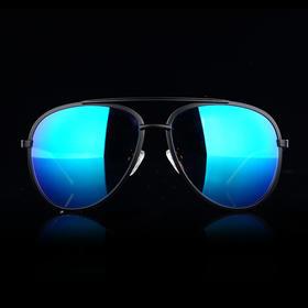 W07蓝色覆膜版飞行员偏光太阳眼镜