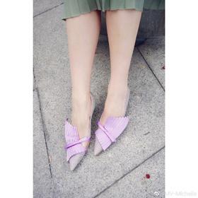 Lost in echo 拼色低跟鞋