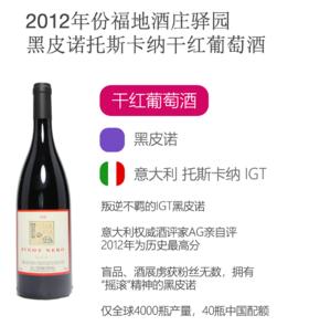 2012年福地酒庄驿园黑皮诺托斯卡纳干红葡萄酒Fontodi Piont Nero 'Case Via' IGT Colli Toscana Centrale Biodynamic 2012