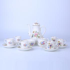【菲集】70年代末英国产皇家伍斯特royal worcester 15件套茶具 咖啡杯 骨瓷
