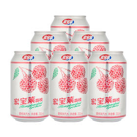 宏宝莱碳酸饮料荔枝味330ml*12罐东北网红汽水