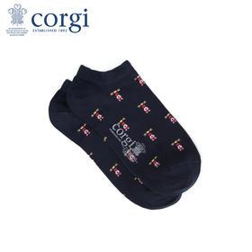 英国CORGI·夏季新款男士轻棉透气船袜浅口短袜商务休闲单鞋袜