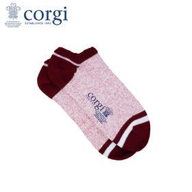 英国CORGI·柯基袜男女同款秋冬纯棉运动低帮浅口短袜厚款