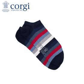 【最新Dr.who同款】CORGI柯基英国进口男女船袜薄款多色条纹休闲亲肤精梳棉手工短袜