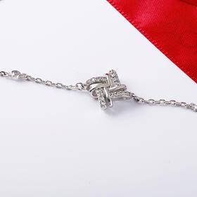 奇幻乐园 微镶精锆时尚纯银手链