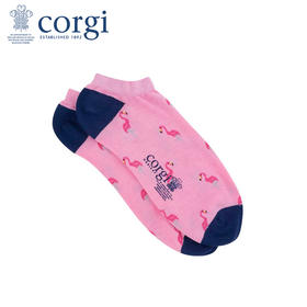 英国CORGI·夏季新款男女情侣款粉色时尚船袜休闲运动浅口短袜