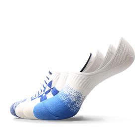 海军蓝隐形船袜 春夏男士隐形船袜 3D袜跟硅胶防滑(4双)