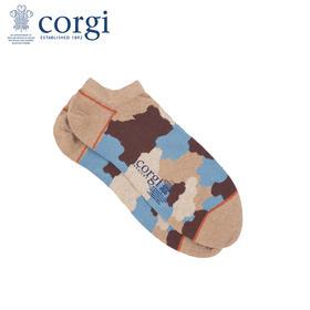 英国CORGI·夏季新款男女款情侣袜迷彩船袜短袜休闲运动浅口袜