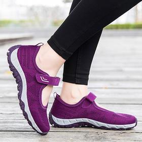 [优选]透气凉鞋 男女网纱平底鞋 健步鞋 春夏款运动鞋 中老年爸妈鞋