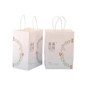 喜善花房定制白色礼品袋