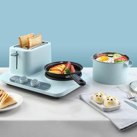 「 煎、煮、炸、炖全能」三合一多功能早餐机