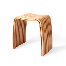 台湾GUDEE COLIN柯林弧形凳(原色/棕色)